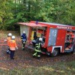 Brandbekämpfung auf dem Hohenstein