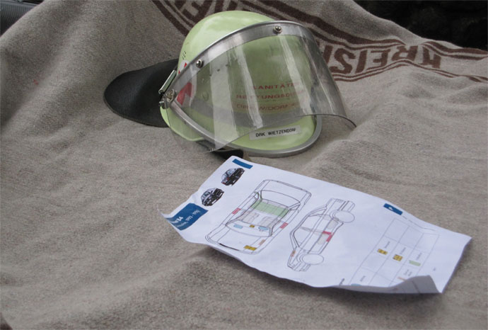 Feuerwehr Rettungskarte