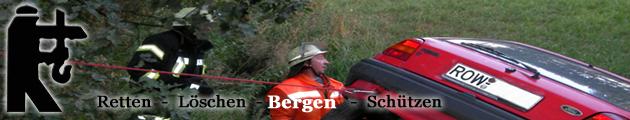 Aufgaben der Feuerwehr: Bergen